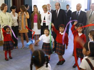 Ver vídeo  'La Reina ha inaugurado oficialmente el curso escolar en un colegio público madrileño'