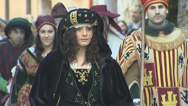 Recreación en Segovia de la proclamación de Isabel como reina