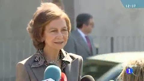 """Ver vídeo  'La reina sobre el accidente de Froilán: """"Con los niños siempre pasa eso""""'"""