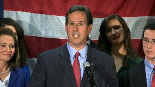 Ver vídeo  'La renuncia de Rick Santorum allana el camino al favorito, Mitt Romney'