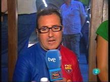 """Video: El reporter del """"Disculpin..."""" surt al carrer per viure el partit de la final de la Champions"""
