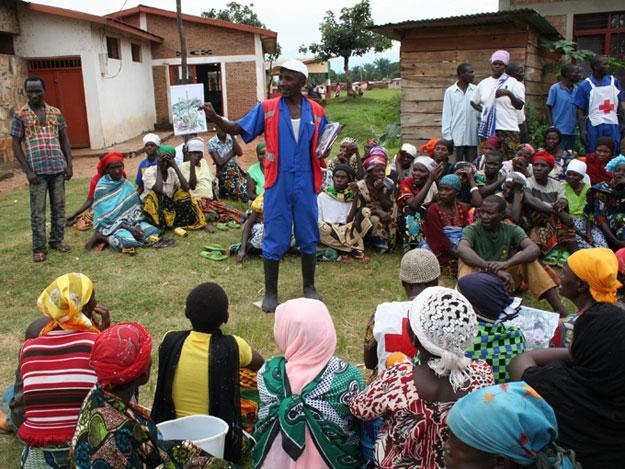 Representación teatral contra el cólera en Burundi