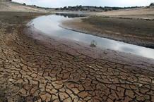 Reserva hidráulica en la localidad salmantina de Cespedosa en febrero de 2012