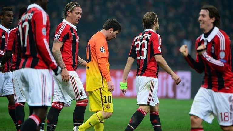 Partido AC Milán-FC Barcelona, octavos Champions 12/13