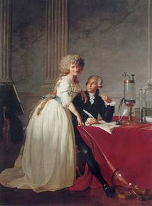 Retrato de Lavoisier y su esposa por Jacques-Louis David