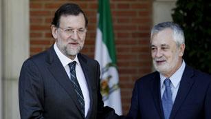Ver vídeo  'Reunión entre Mariano Rajoy y el presidente andaluz José Antonio Griñán'