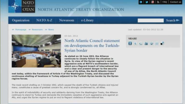 La OTAN se reune de urgencia ante la posible intervención en Siria de Turquía