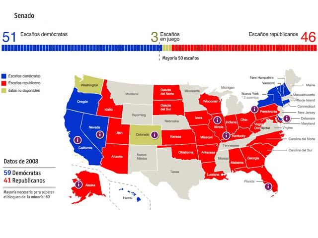 Los republicanos asestan un duro revés a Obama en las legislativas