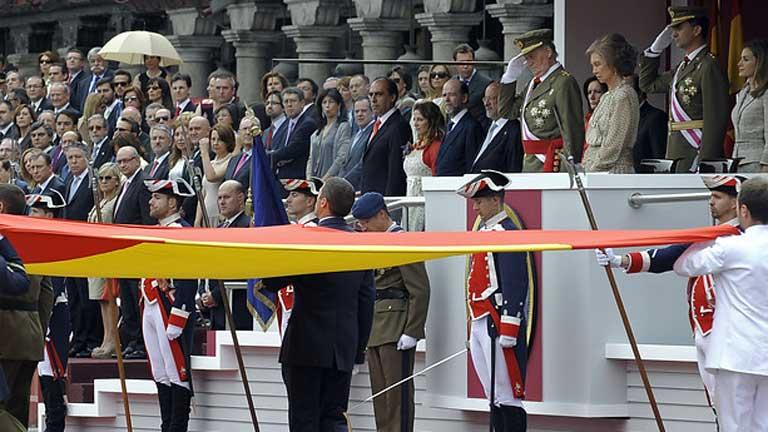 El rey preside el acto central del Día de las fuerzas armadas