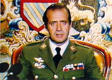 El Rey durante el mensaje televisivo emitido la noche del golpe de 1981