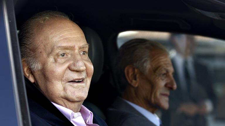 El rey, a su salida del hospital: