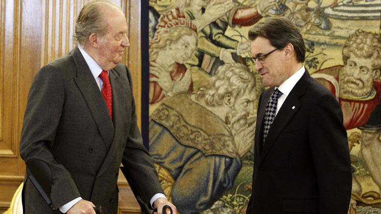 El Rey recibe al presidente de la Generalitat, Artur Mas