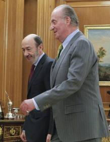 EL REY RECIBE AL NUEVO SECRETARIO GENERAL DEL PSOE, ALFREDO PÉREZ RUBALCABA
