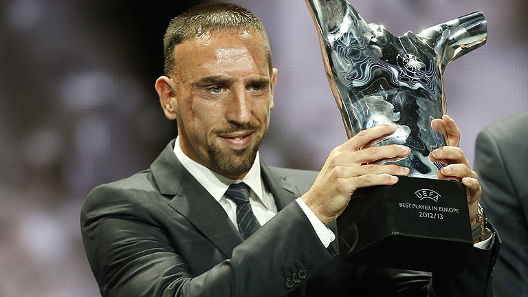 Ribéry, mejor jugador de Europa