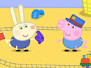 Imagen del  vídeo de Peppa Pig en inglés titulado RICHARD RABBIT COMES TO PLAY