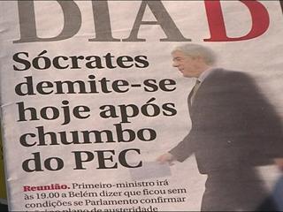 Ver v?deo  'El riesgo de una crisis política acerca a Portugal al rescate y a Sócrates, a su dimisión'
