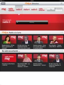 RNE en directo en el iPad