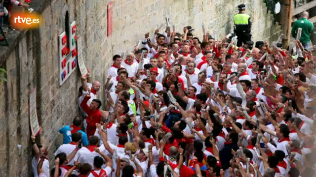 RNE te narra el primer encierro de San Ferm&iacute;n 2012 en im&aacute;genes