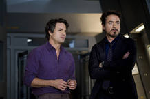 Robert Downey Jr. (Tony Stark/Iron Man) y Mark Ruffalo (Robert Bruce Banner/Hulk)