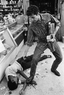 Robert De Niro (Travis Bickle) en un momento del rodaje