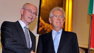 Ver vídeo  'Rompuy y Monti proponen una cumbre de la UE para contrarrestar el sentimiento antieuropeo'