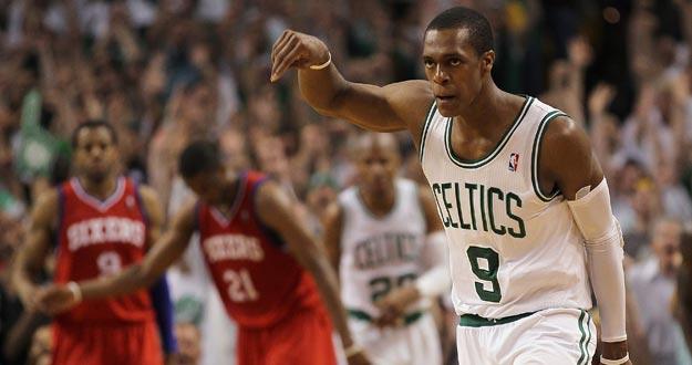 Rondo, base de los Celtics, fundamental en la victoria ante los Sixers