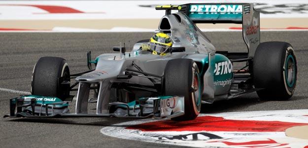 Rosberg en una sesión de entrenamiento en el Gran Premio de Baréin