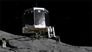 La sonda Rosetta de la ESA orbita alrededor del cometa 67P