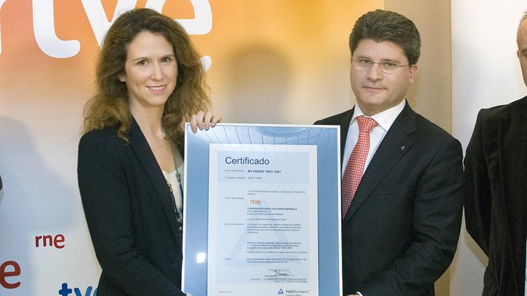 RTVE recibe el Certificado OHSAS de Gestión de Salud y Seguridad Laboral