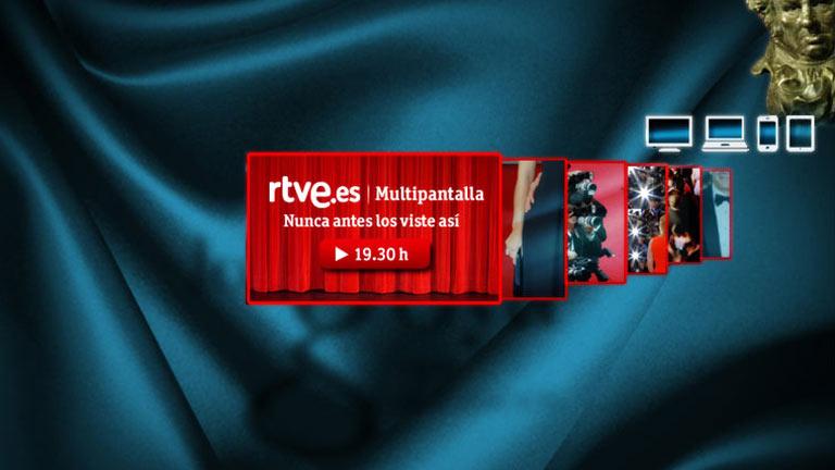 RTVE.es retransmite los Premios Goya por primera vez en la historia con multipantalla