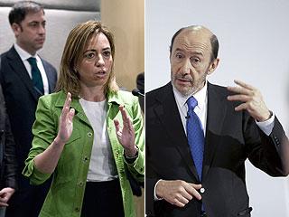 Ver vídeo  'Rubalcaba y Chacón se atribuyen el mayor número de delegados en los congresos'
