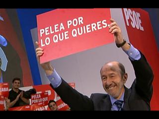 Ver vídeo  'Rubalcaba garantiza la defensa de los derechos sociales frente a los recortes'