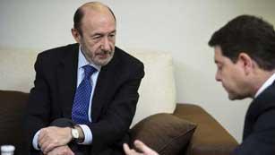 Ver vídeo  'Rubalcaba pide la intervención del BCE y una moratoria de dos años para el objetivo del déficit'