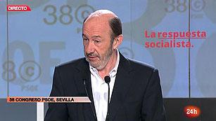 "Ver vídeo  'Rubalcaba: ""Seré un líder socialista fuerte, a mi no me van a quebrar""'"