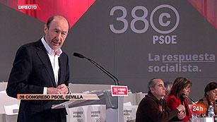 """Ver vídeo  'Rubalcaba: """"Solo he oído llorar a Zapatero por el fin de ETA""""'"""