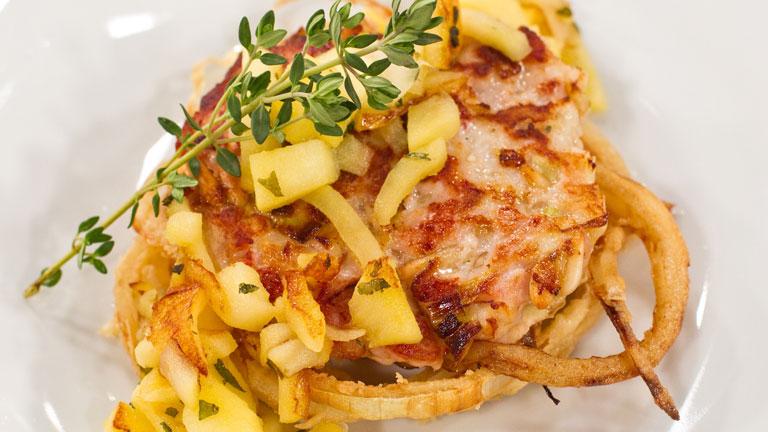 Receta de hamburguesas de mar con aros d e cebolla Cocinar ortigas de mar