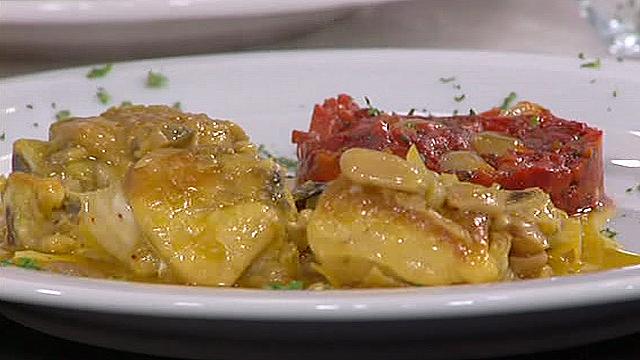 receta de pollo de corral en pepitoria
