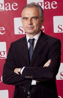 Sabino Méndez, compositor y autor de letras y portavoz de la Junta Directiva de la SGAE