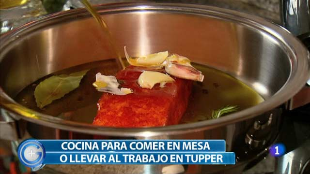 M&aacute;s Gente - M&aacute;s Cocina - Salm&oacute;n con verduras para llevar en el tupper