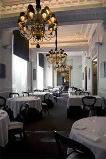 Salón grande de 'El club Allard' , restaurante madrileño situado junto a Plaza de España, que ha recibido este jueves su segunda estrella Michelín