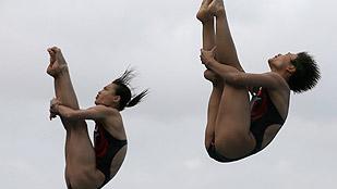 Las saltadoras chinas demuestran su hegemonía con un oro en los 3 metros sincronizados