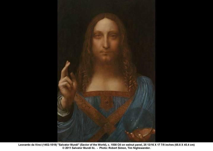 'Salvator Mundi', pintura atribuida a Leonardo da Vinci y expuesta en la National Gallery
