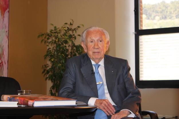 Samaranch, durant l'entrevista amb motiu del 50ª Aniversari de TVE Catalunya