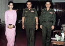 File photo of Aung San Suu Kyi, General Than Shwe and former PM Khin Nyunt in Yangon.