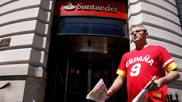 El Santander gana 1.604 millones hasta marzo, un 24% menos