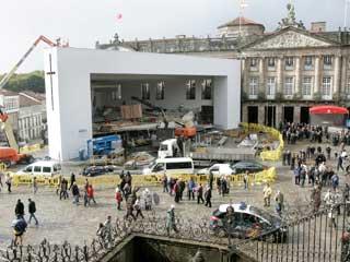 Ver vídeo  'Santiago se prepara para la visita del Papa'