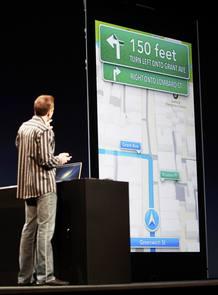 Scott Forstall, de Apple, preseta su nueva aplicación cartográfica