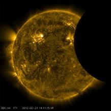 El eclipse captado por el SDO