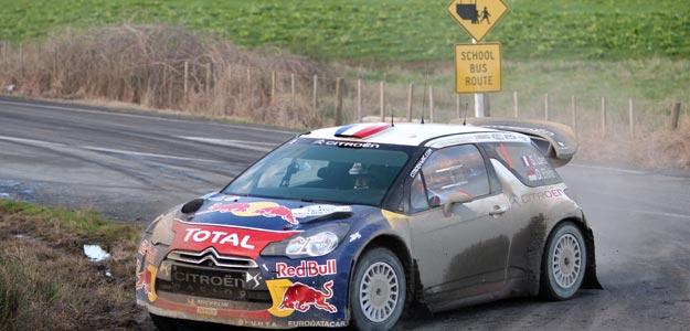 Sebastian Loeb conduce su coche durante uno de los tramos del Rally de Nueva Zelanda