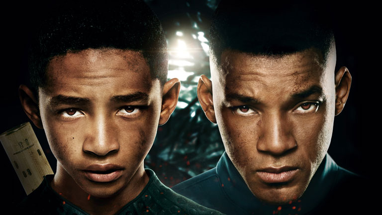 Secuencia en primicia de 'After Earth', protagonizada por Jadan y Will Smith